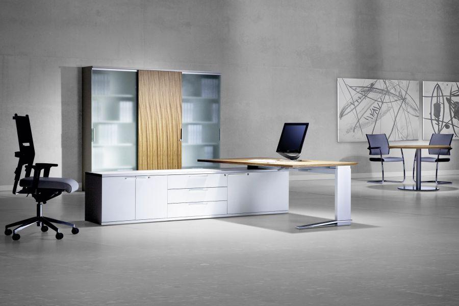 leuwico imove designer schreibtisch mit h henverstellung von sitz bis stehh he. Black Bedroom Furniture Sets. Home Design Ideas