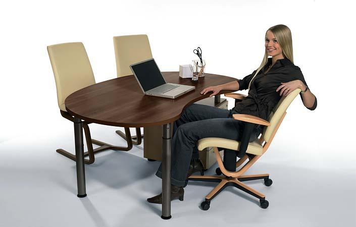 Ergonomischer bürostuhl holz  Moizi 18 und Moizi 21 - Bürostühle im Holz-Design | Ergonomie ...
