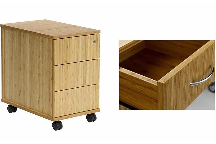 Schön Container Und Schublade Aus Massivem Bambus
