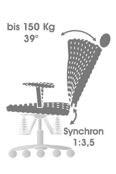 Ergonomischer bürostuhl grafik  Grafik Bürostuhl Twist: Synchronmechanik. (Bildseite)
