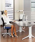 leuwico go h henverstellbare schreibtische und steh sitz. Black Bedroom Furniture Sets. Home Design Ideas