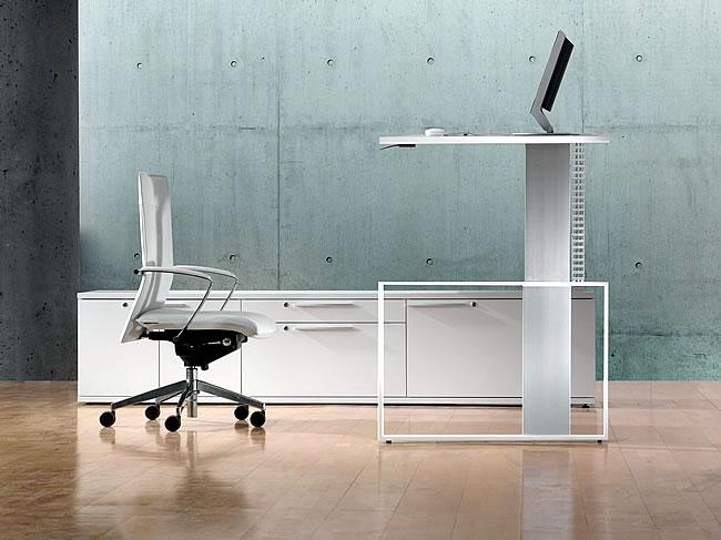 Kinderschreibtisch design höhenverstellbar  Leuwico iMove: Designer Schreibtisch mit Höhenverstellung von Sitz ...