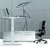 leuwico spine h henverstellbarer ergonomischer schreibtisch. Black Bedroom Furniture Sets. Home Design Ideas