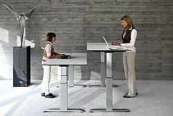 ergon tischgestell h henverstellbar f r ergonomische steh. Black Bedroom Furniture Sets. Home Design Ideas