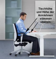 Bürostuhl ergonomisch einstellen  Richtige Einstellung von Schreibtisch und Stehpult, Tipps für die ...